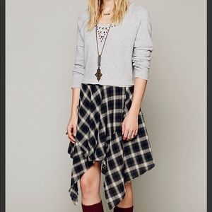 Free People • Monday to Sunday Grunge Plaid Tunic